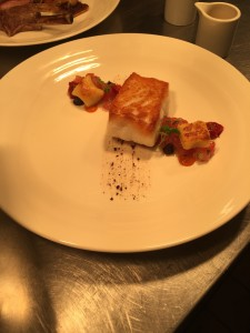 Cornish Cod with Tomato and Mussel Ketchup, Gnocchi and Tapenade