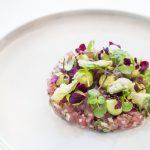 TunaTartare, Hass avocado, Wasabi and Shiso